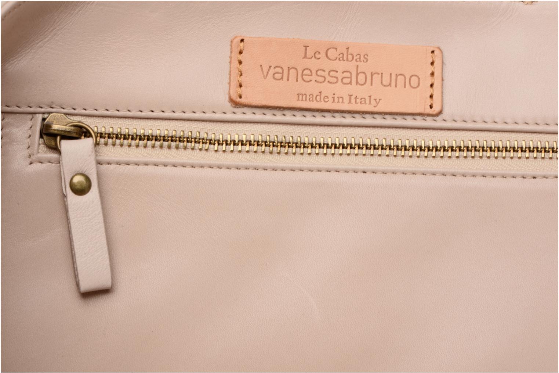 Handtassen Vanessa Bruno Cabas cuir œillets M Beige achterkant