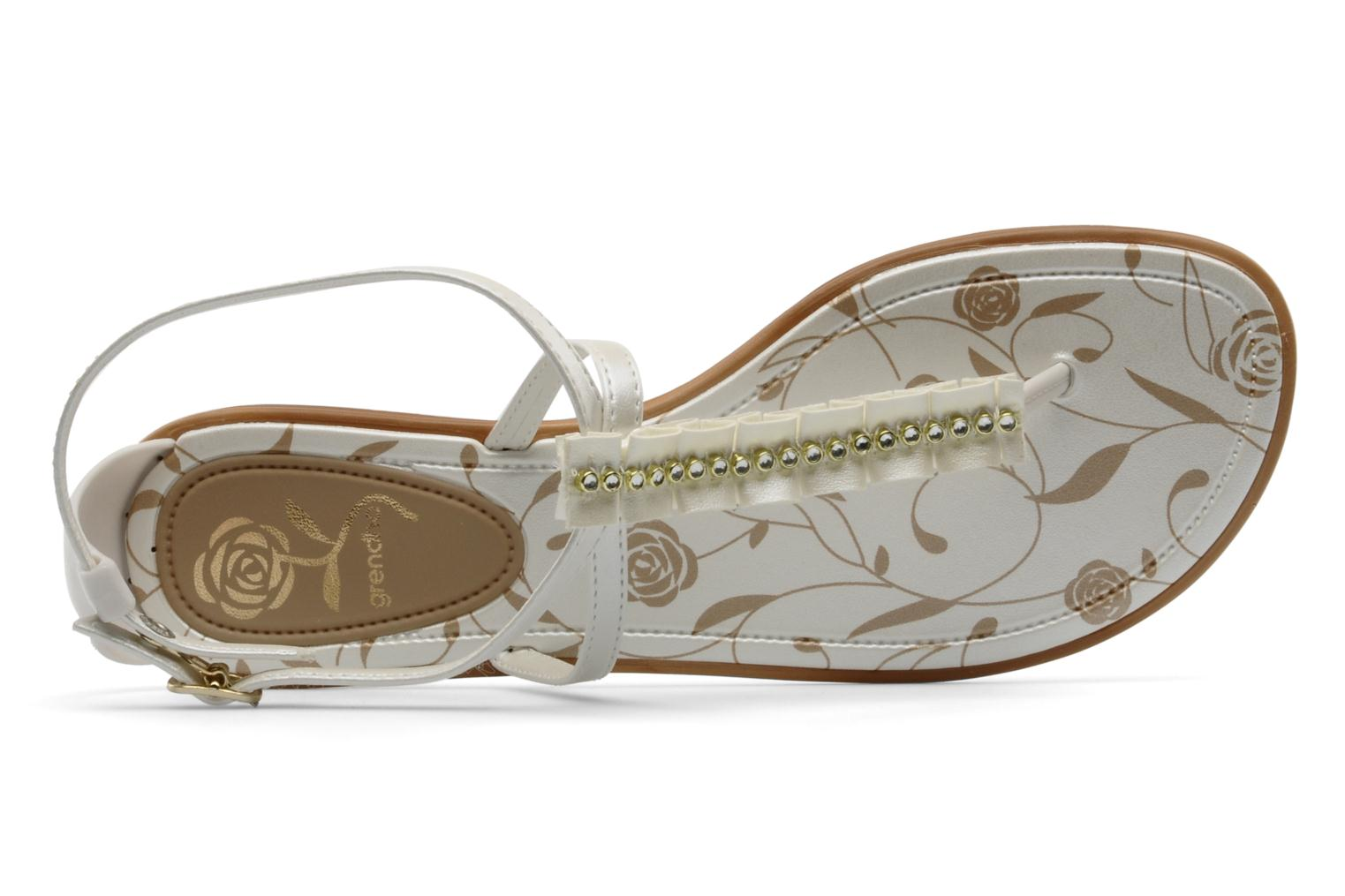 Sandalen Grendha Daisy ad f Wit links
