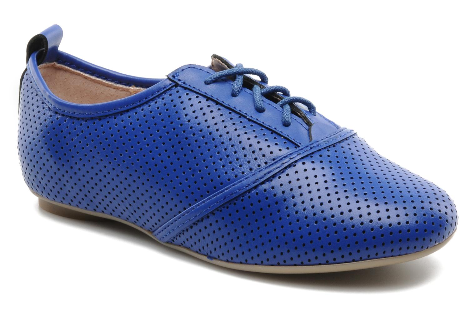 Lace-up shoes Mellow Yellow Lilas Blue detailed view/ Pair view