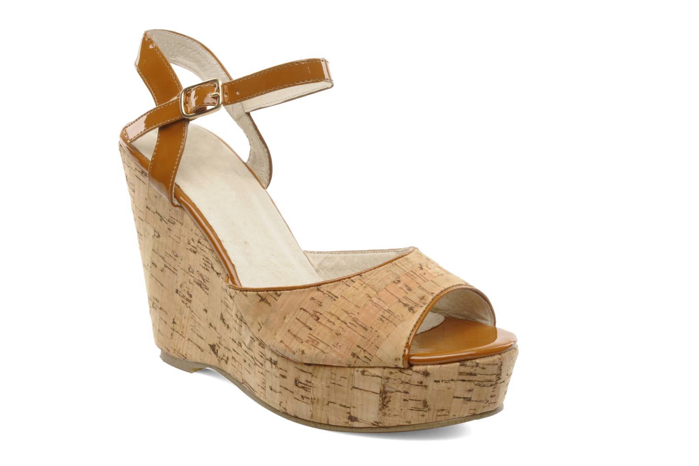 Sandales et nu-pieds Georgia Rose Flica Marron vue détail/paire