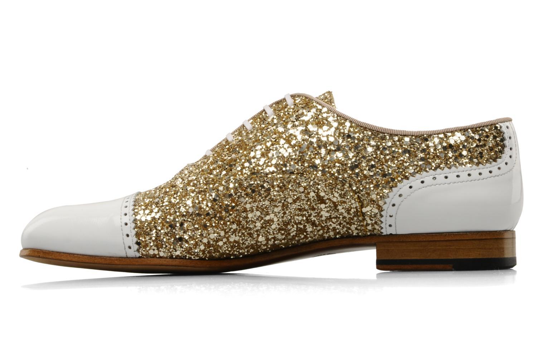 Chaussures à lacets Georgia Rose Pantika Or et bronze vue face