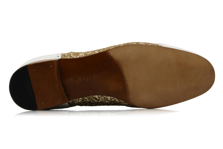 Chaussures à lacets Georgia Rose Pantika Or et bronze vue haut