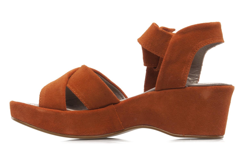 Sandali e scarpe aperte Addict-Initial Ariana Arancione immagine frontale