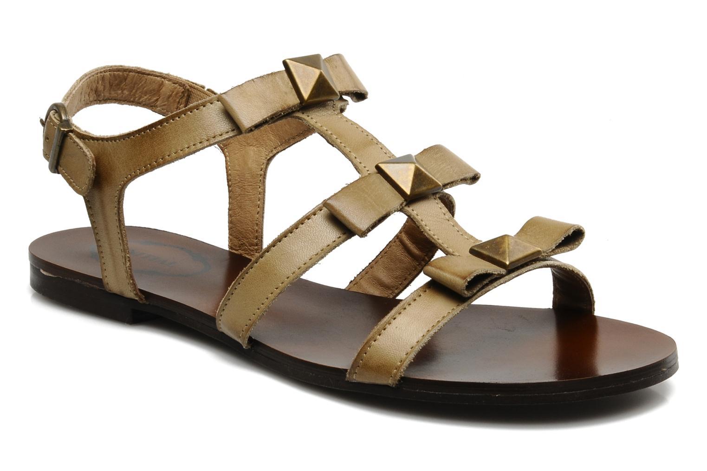 Sandales et nu-pieds Addict-Initial Adene Beige vue détail/paire