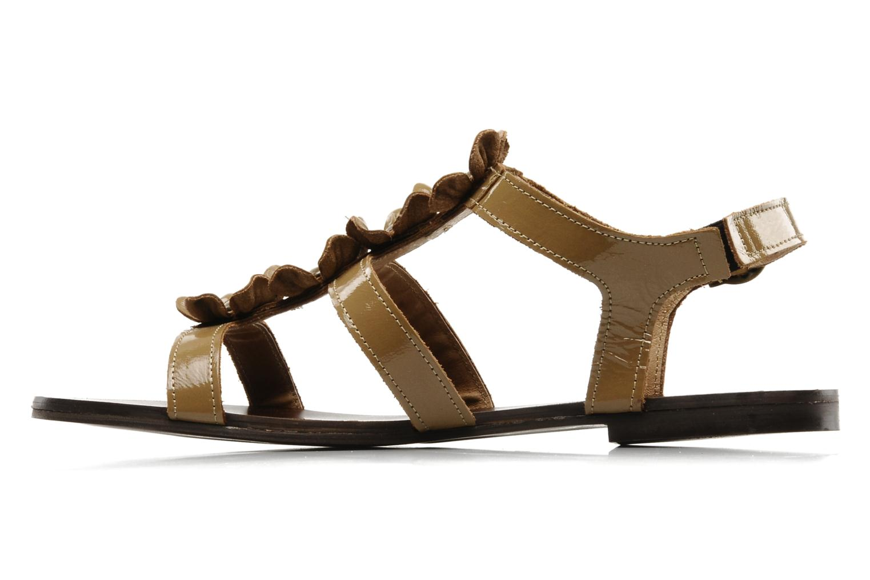 Sandalen Addict-Initial Agustina braun ansicht von vorne