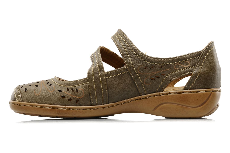 Ballerina's I Love Shoes Similio Groen voorkant
