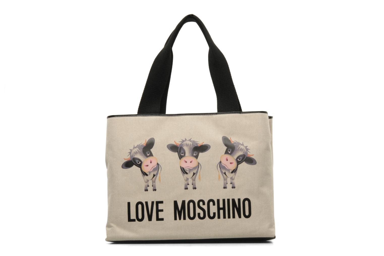 Handbags Love Moschino MOOOU BAG CABAS Beige detailed view/ Pair view