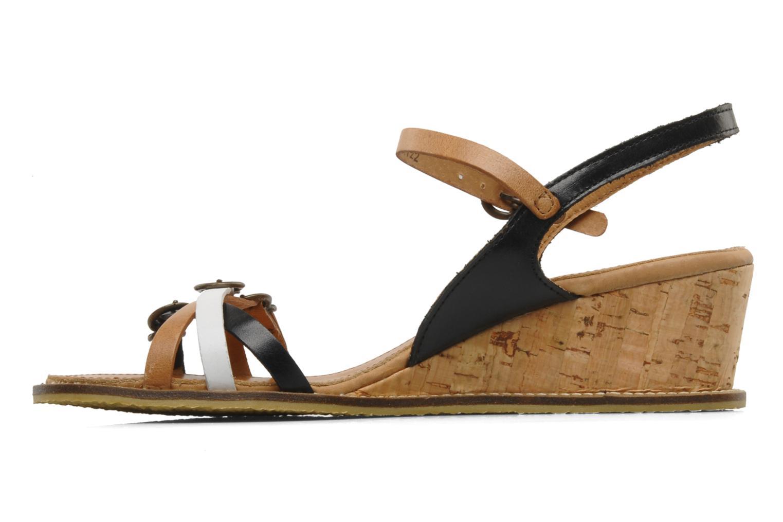 Sandales et nu-pieds Kickers SPRING 2 Noir vue face