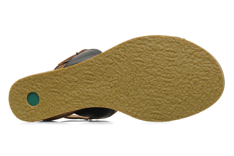 Sandales et nu-pieds Kickers SPRING 2 Noir vue haut