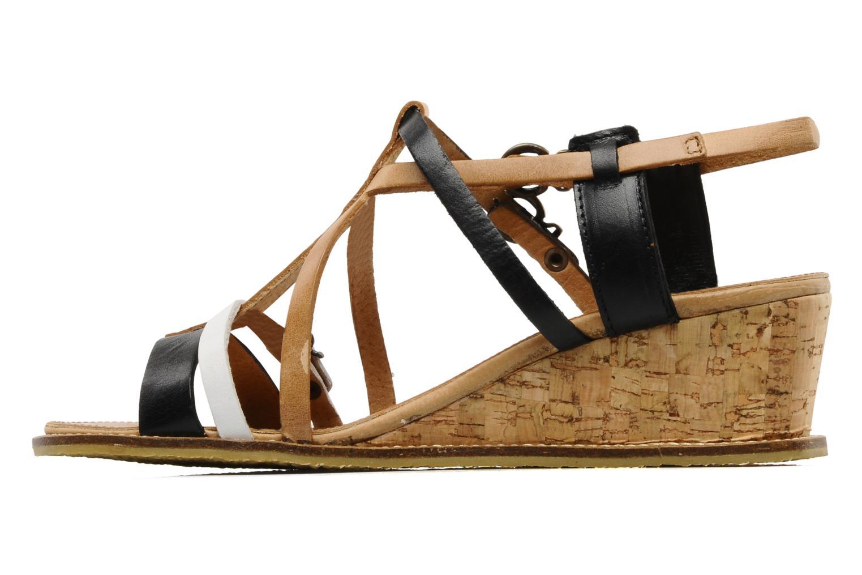 Sandales et nu-pieds Kickers SUBMARINE Noir vue face