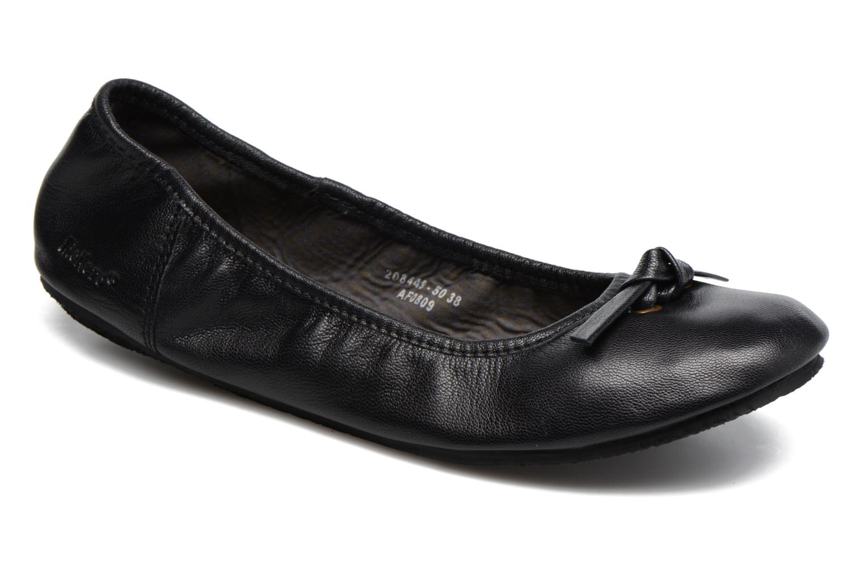 Ballerinaer Kickers Liberta Sort detaljeret billede af skoene