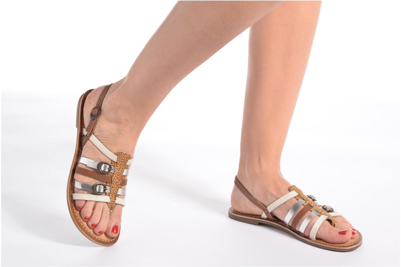 Sandales et nu-pieds Kickers Dixmille Noir vue bas / vue portée sac