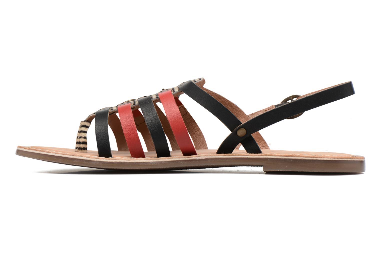 Sandales et nu-pieds Kickers Dixmille Noir vue face