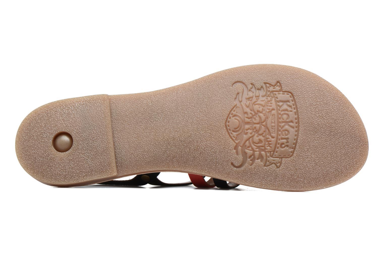 Sandales et nu-pieds Kickers Dixmille Noir vue haut
