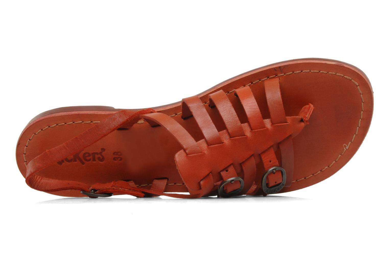 Sandales et nu-pieds Kickers Dixmille Rouge vue gauche