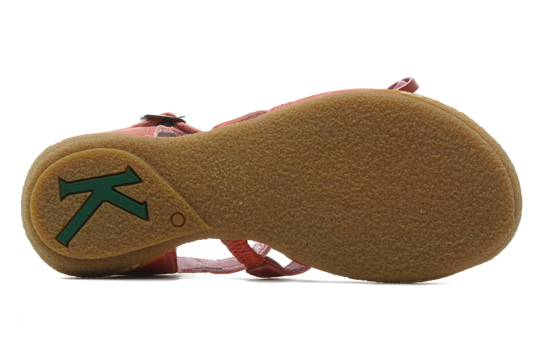 Sandales et nu-pieds Kickers CYCLINE 2 Rouge vue haut