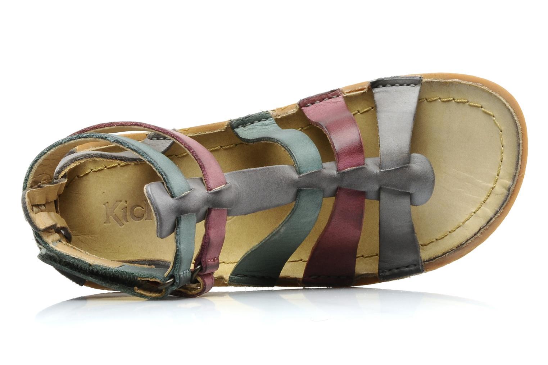 Sandales et nu-pieds Kickers PEPLUM V Gris vue gauche