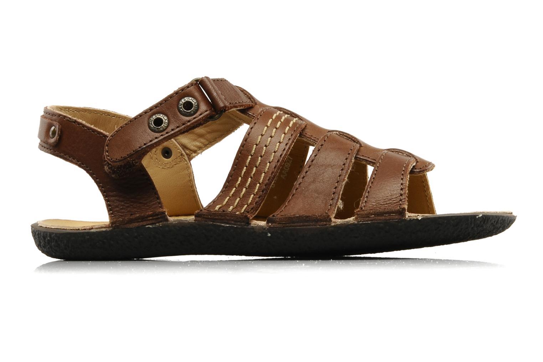 Sandales et nu-pieds Kickers PEPITO V Marron vue derrière