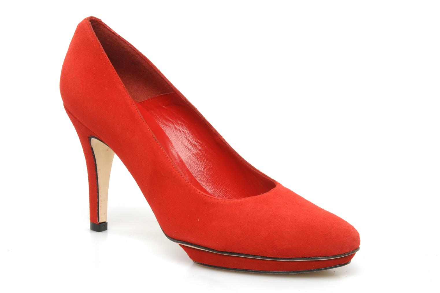 High heels Georgia Rose Gemma Red detailed view/ Pair view