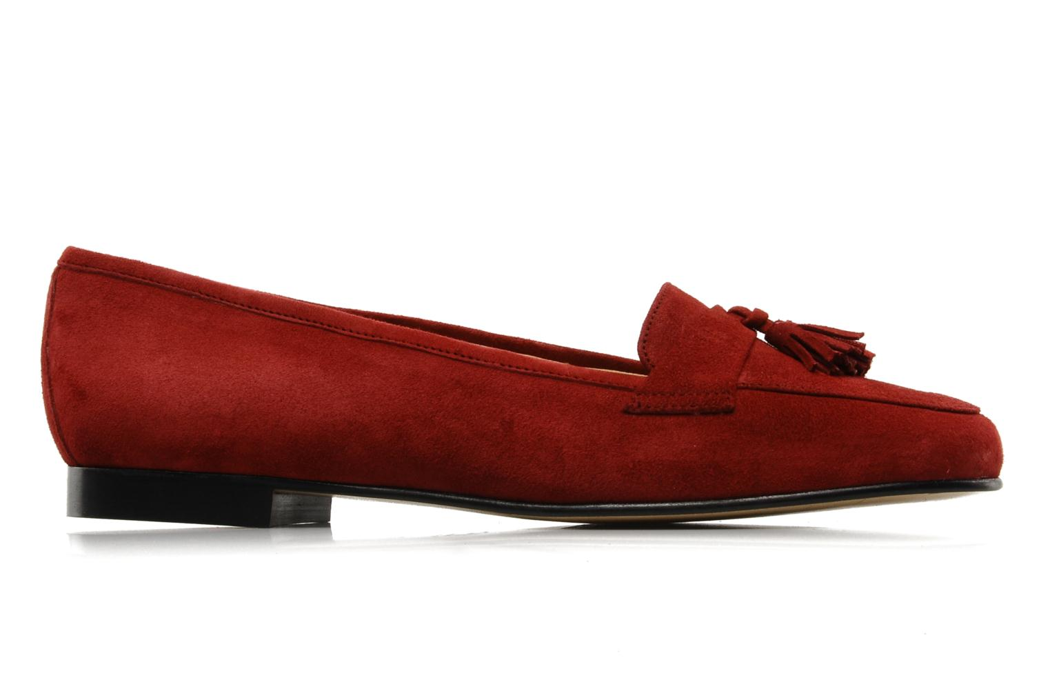 Loafers Georgia Rose Voxe Burgundy back view
