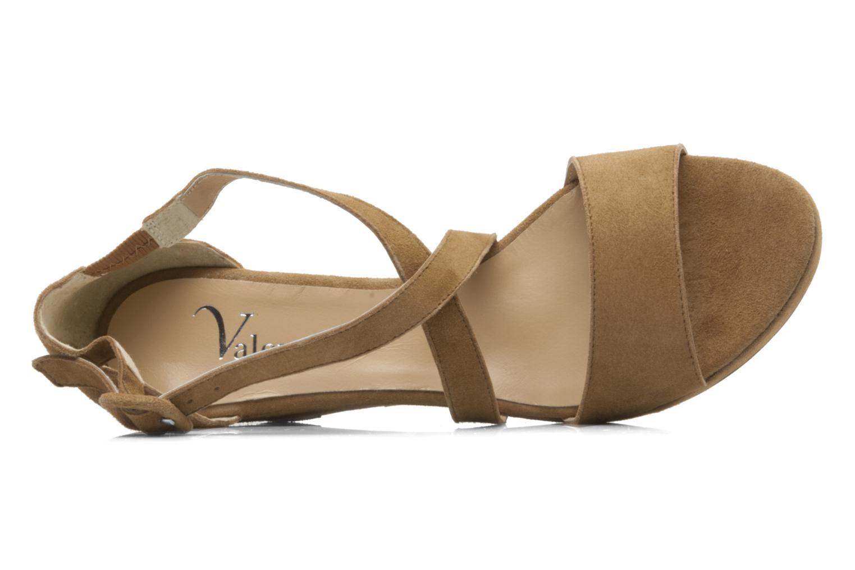 Sandales et nu-pieds Valensi Vira Beige vue gauche