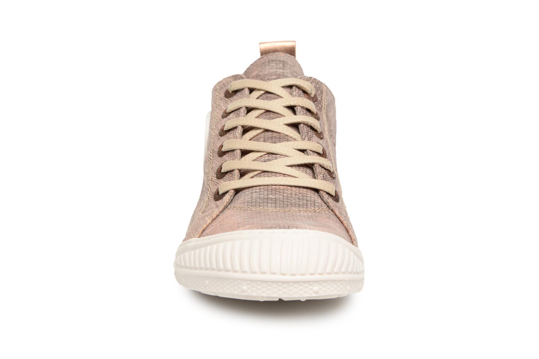 Baskets Pataugas Rock/M W Or et bronze vue portées chaussures