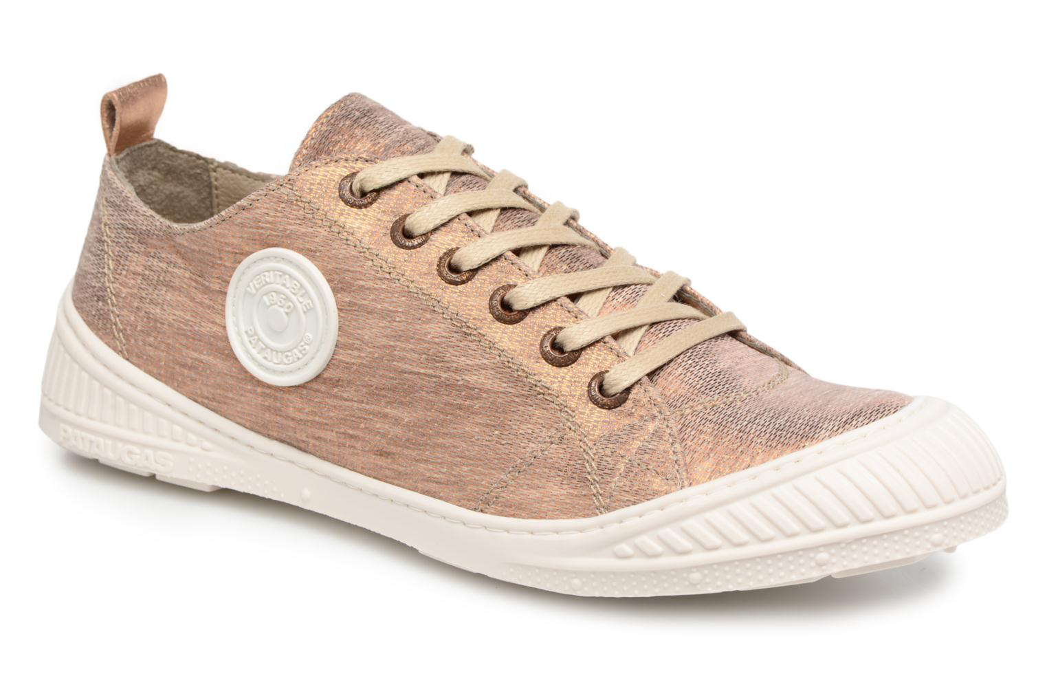 Trainers Pataugas Rock/M W Bronze and Gold detailed view/ Pair view