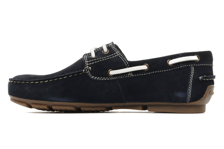 Chaussures à lacets Geox U lux B Bleu vue face