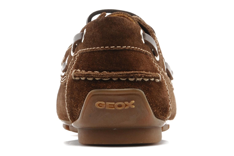 Chaussures à lacets Geox U lux B Marron vue droite