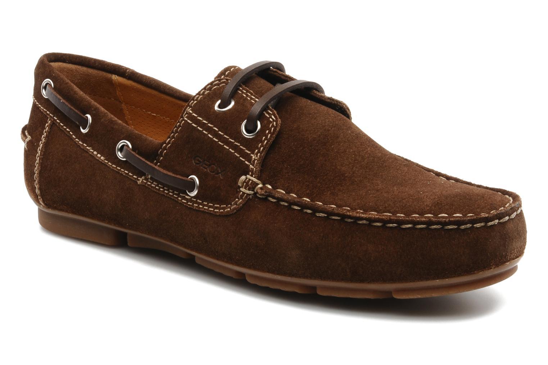 Chaussures à lacets Geox U lux B Marron vue détail/paire