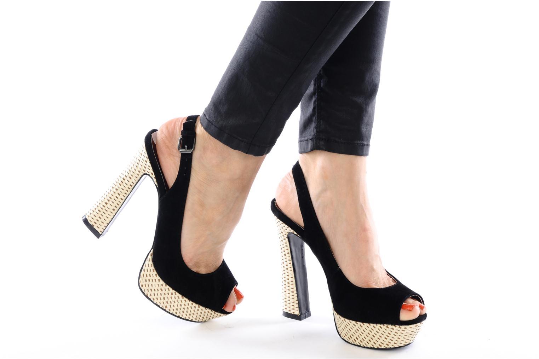 Sandalen I Love Shoes Leia schwarz ansicht von unten / tasche getragen