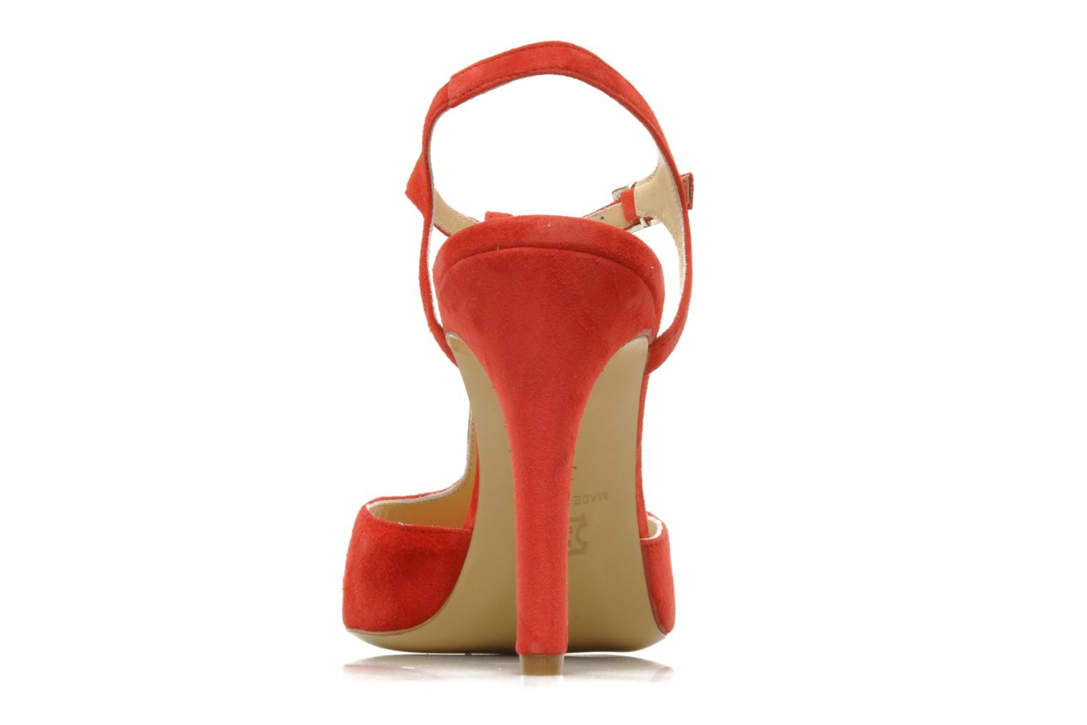 Sandals Georgia Rose Sato Red view from the right
