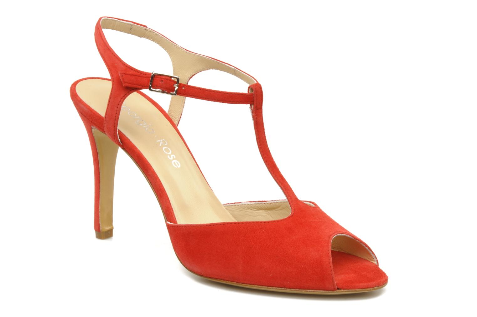 Sandals Georgia Rose Sato Red detailed view/ Pair view