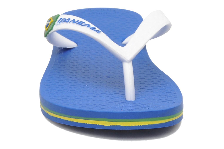 Tongs Ipanema Classic brasil II k Bleu vue portées chaussures