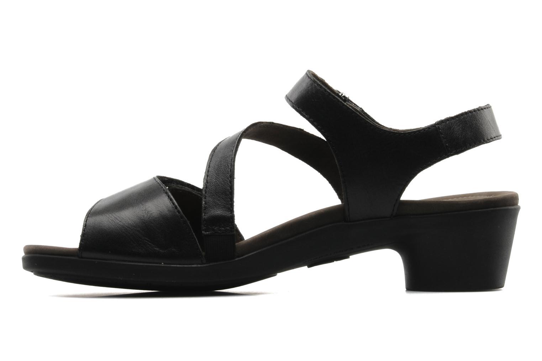 Sandales et nu-pieds Mephisto Pricila Noir vue face