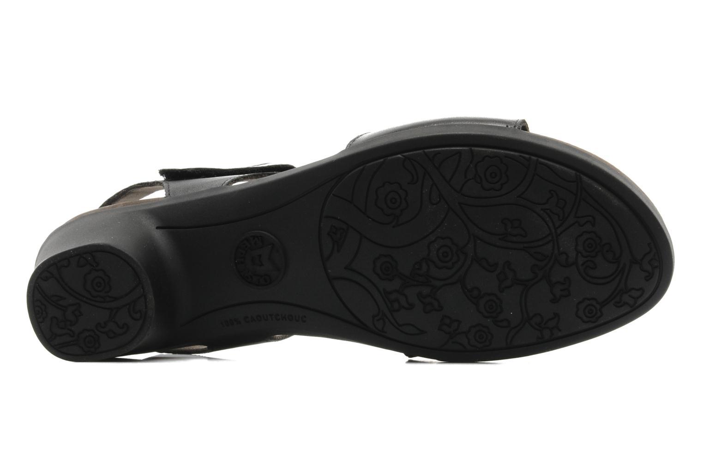 Sandales et nu-pieds Mephisto Pricila Noir vue haut