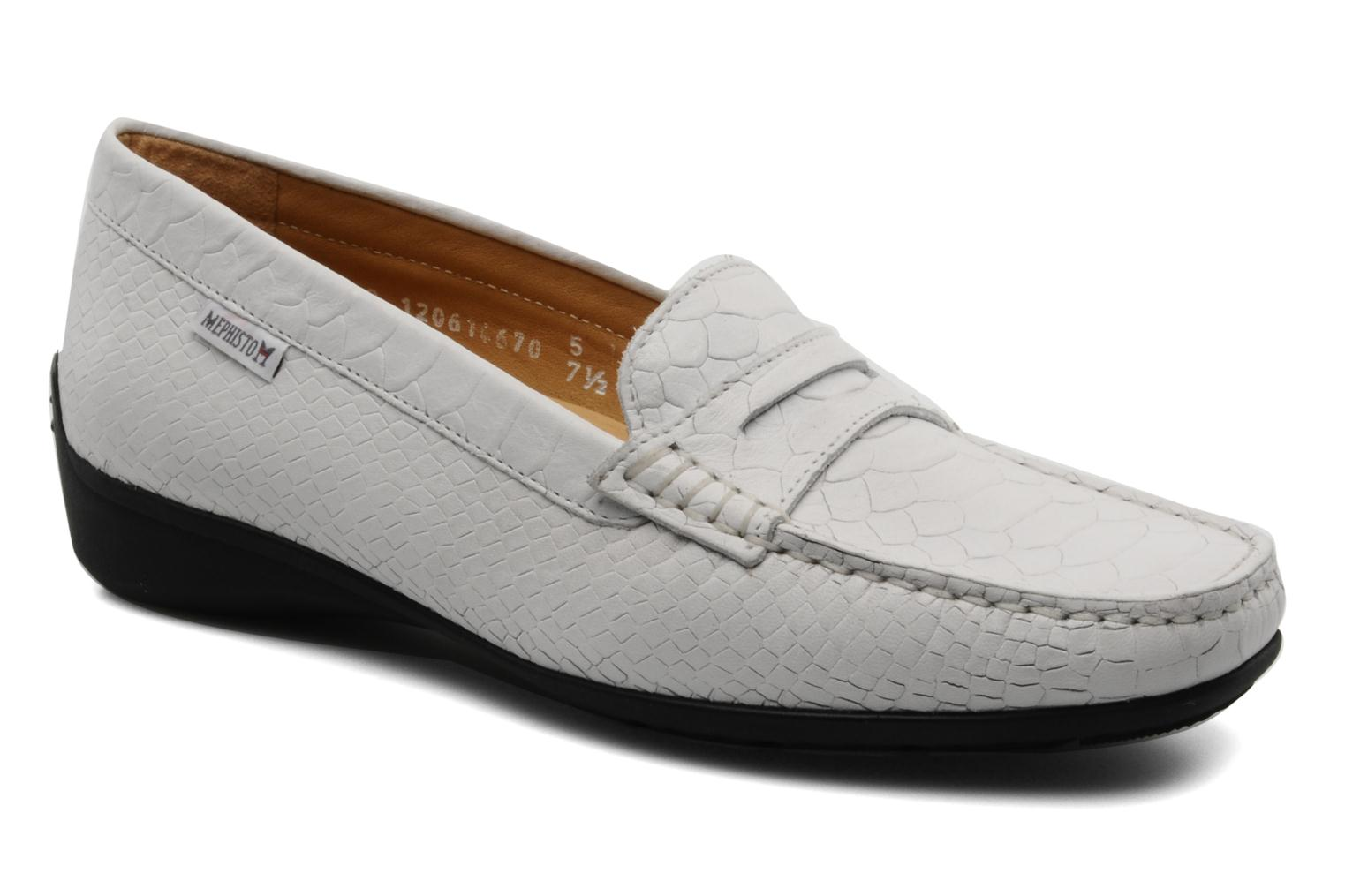 Loafers Mephisto Ninon White detailed view/ Pair view