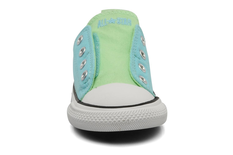 Baskets Converse Chuck Taylor All Star Simple Slip Ox K Bleu vue portées chaussures
