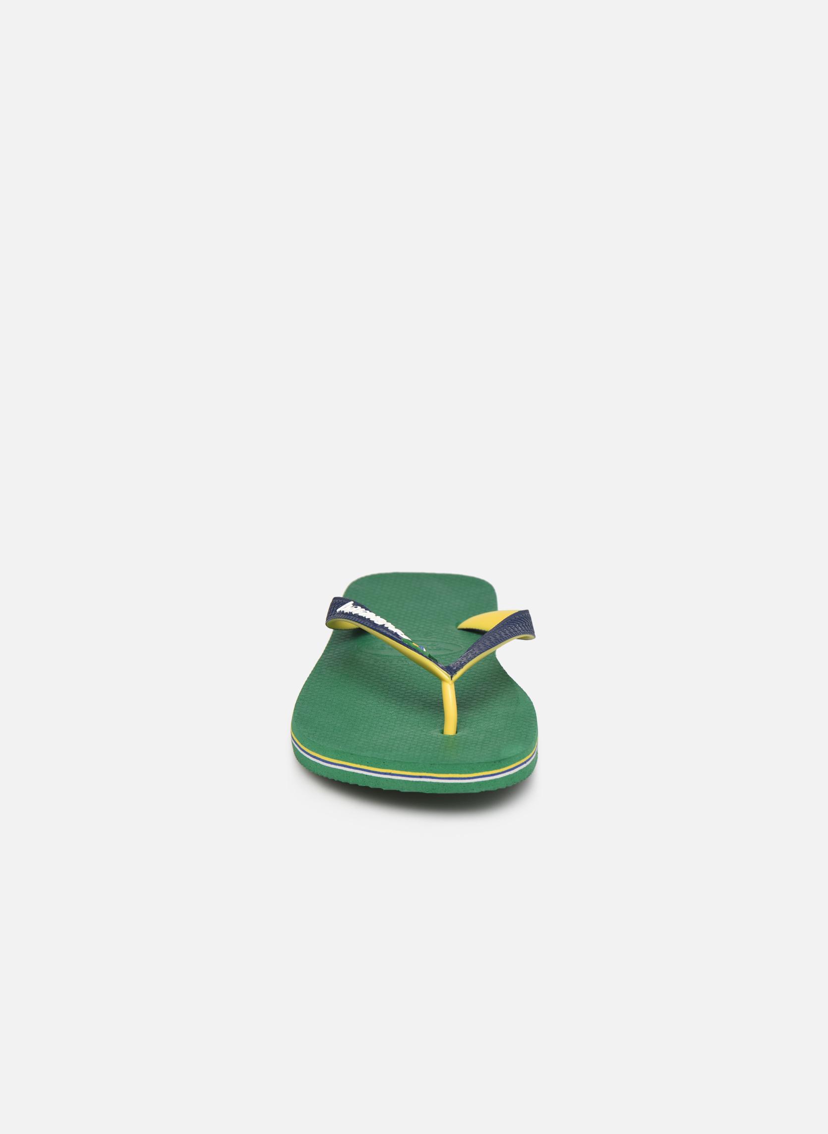 Tongs Havaianas Brasil Mix H Vert vue portées chaussures
