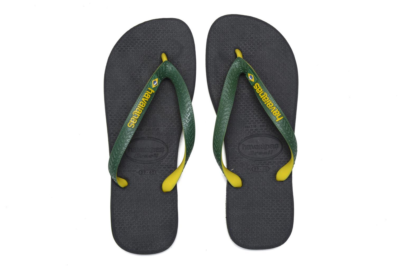 Flip flops Havaianas Brasil Mix H Green 3/4 view