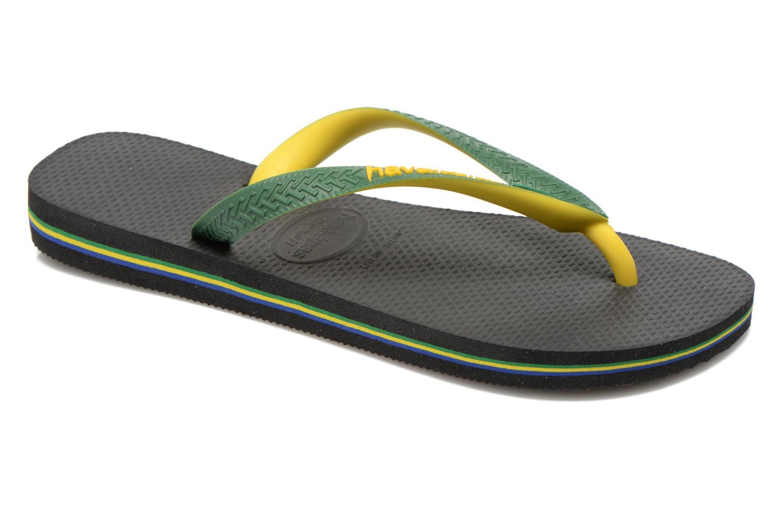 Flip flops Havaianas Brasil Mix H Green detailed view/ Pair view