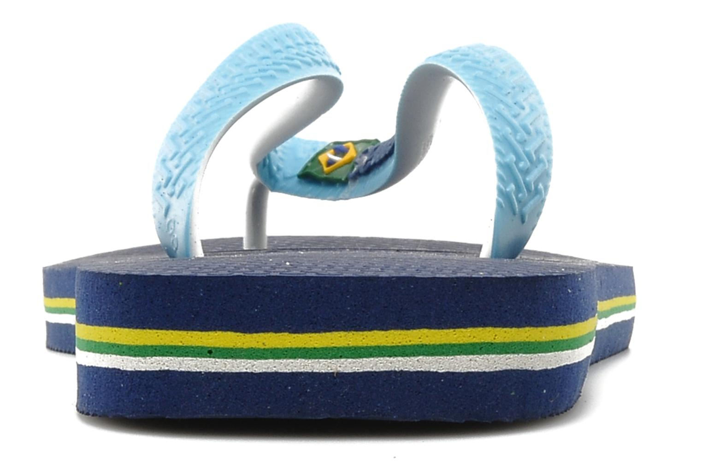 Tongs Havaianas Brasil Mix H Bleu vue droite