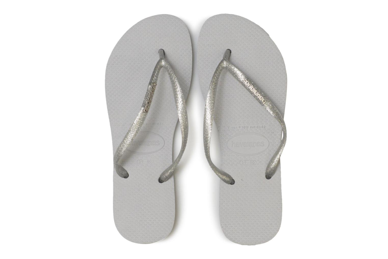 Slippers Havaianas Slim Logo Metallic Grijs model