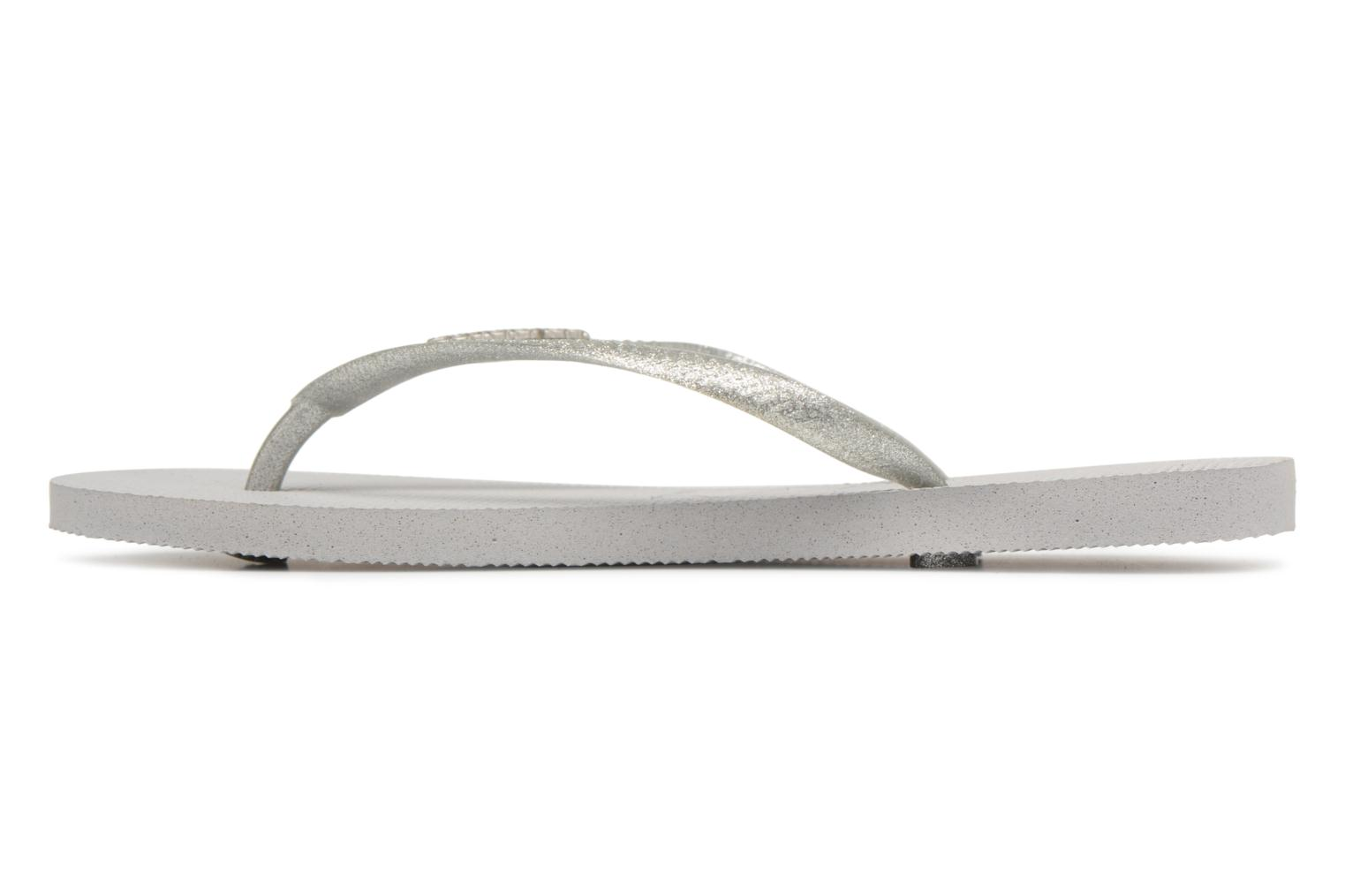 Tongs Havaianas Slim Logo Metallic Gris vue face