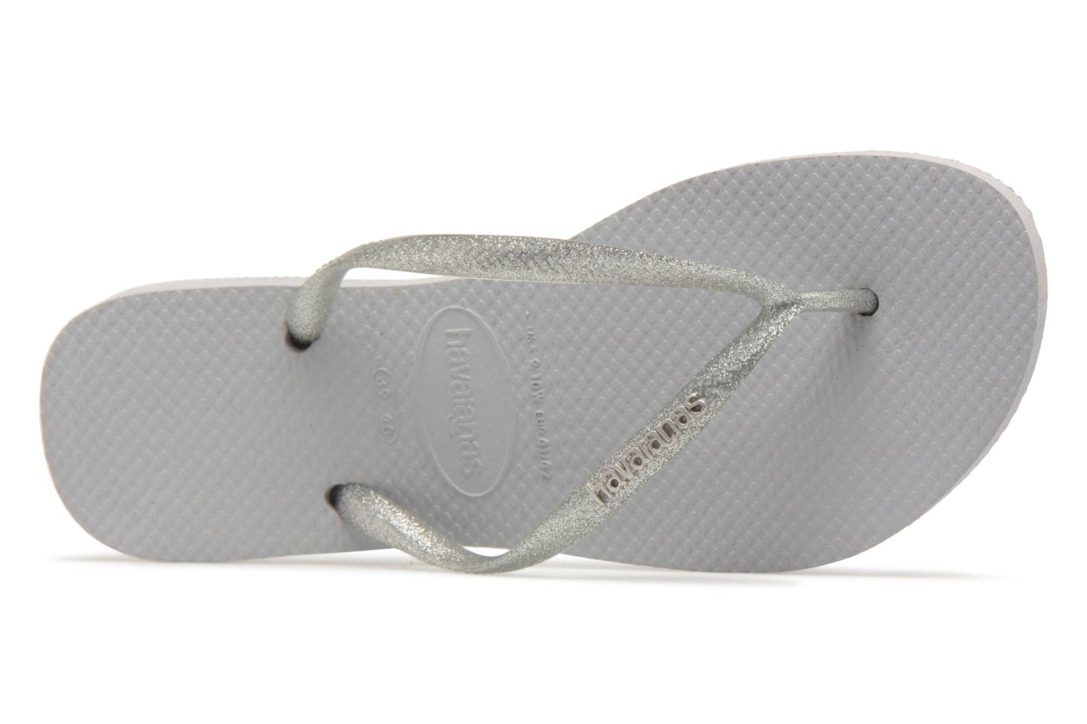 Slippers Havaianas Slim Logo Metallic Grijs links