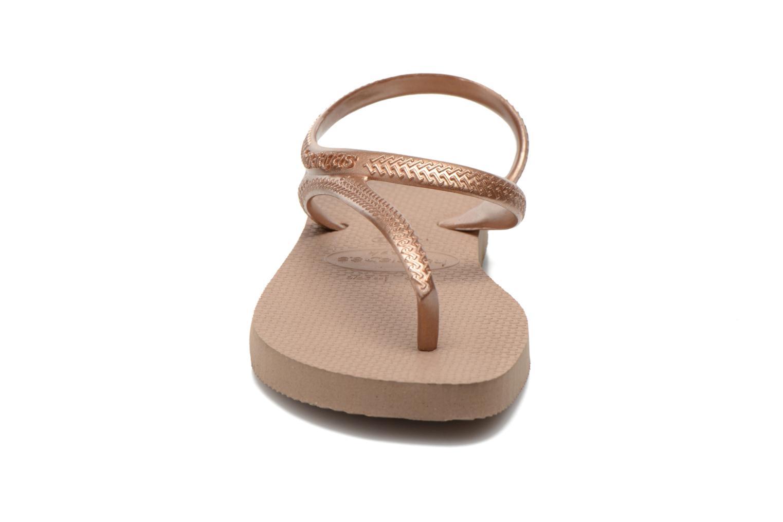 Sandales et nu-pieds Havaianas Flash Urban Or et bronze vue portées chaussures