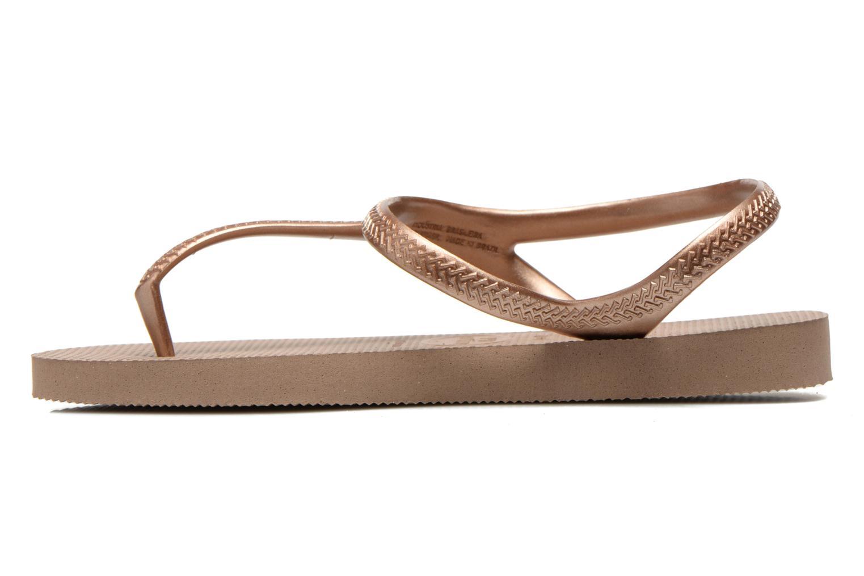 Sandales et nu-pieds Havaianas Flash Urban Or et bronze vue face