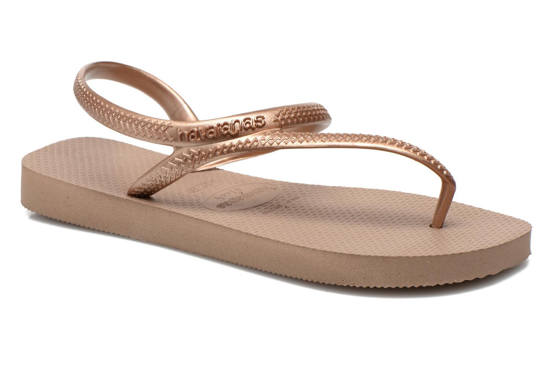 Sandales et nu-pieds Havaianas Flash Urban Or et bronze vue détail/paire