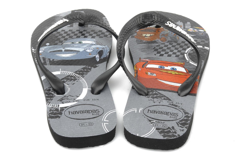 Flip flops Havaianas Kids Cars Black 3/4 view