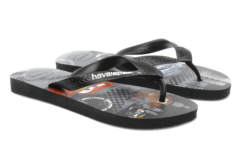 Flip flops Havaianas Kids Cars Black detailed view/ Pair view